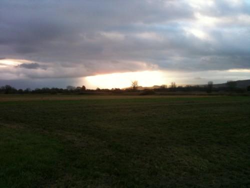 Sonnenaufgang bei Böhringen