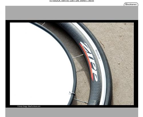 Ein Beistelltisch aus edlen ZIPP Laufrädern.