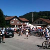 Verpflegungsstation in Krummenau vor dem Aufstieg auf den Säntis